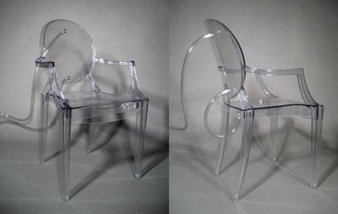 La sedia ghost di starck si trasforma in un terrario - Sedia ghost philippe starck ...