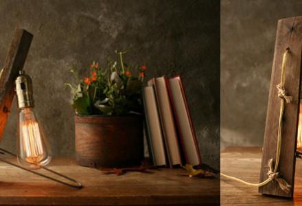 Salvage Wood Lamp