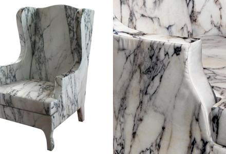 poltrona marmo