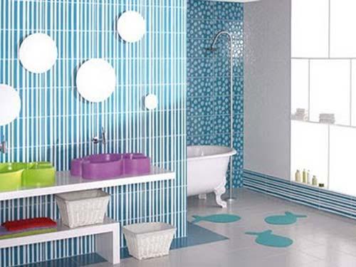 Idee arredo bagno colorato-09  DesignBuzz.it