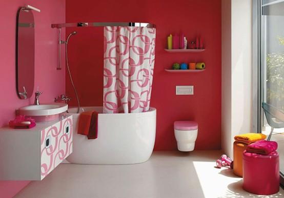 Idee per arredo bagno colorato for Arredo bagno colorato