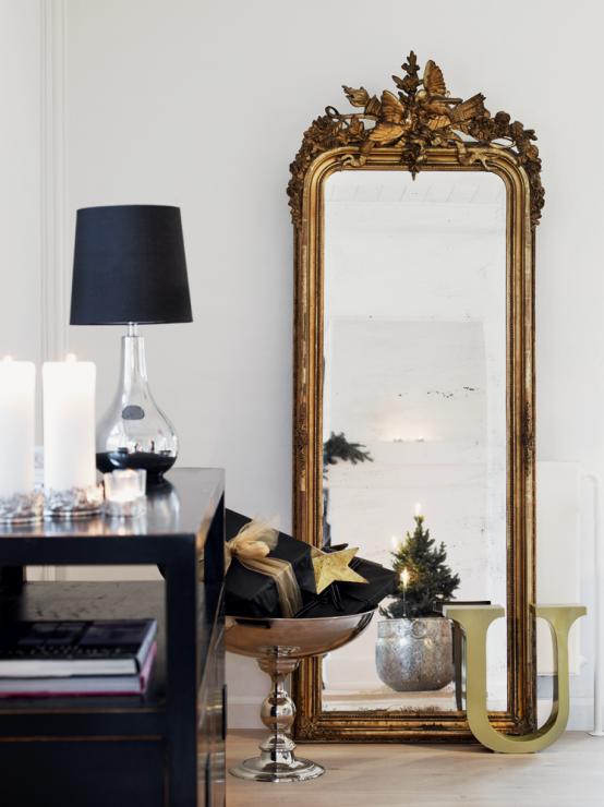 Idee per usare uno specchio barocco DesignBuzz.it