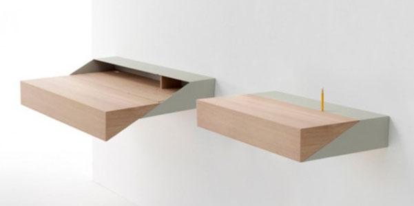 Deskbox il tavolino salvaspazio - Tavolo a ribalta da parete ...