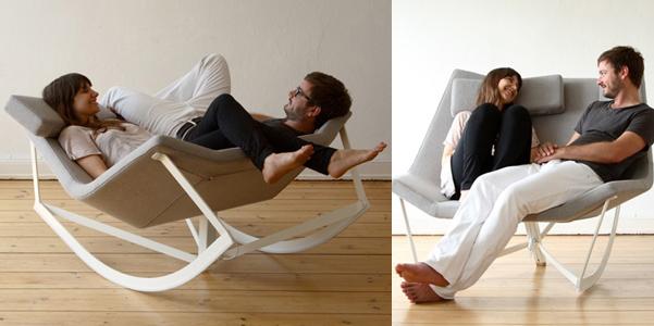 Sedia a dondolo di coppia for Ikea dondolo
