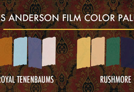 Wes Anderson film palette