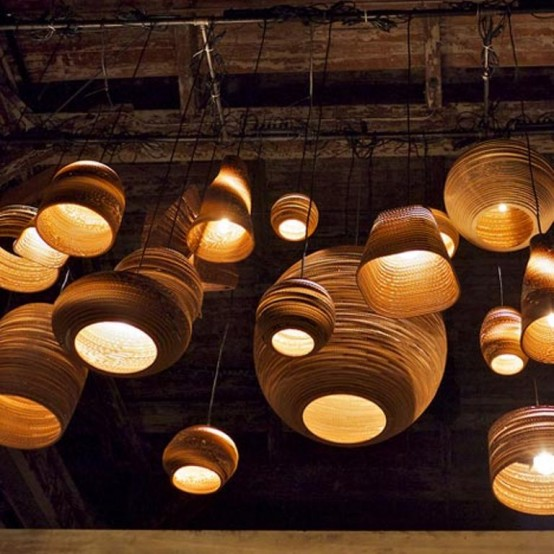 lampadari brilliant : Scraplights, lampadari di cartone DesignBuzz.it