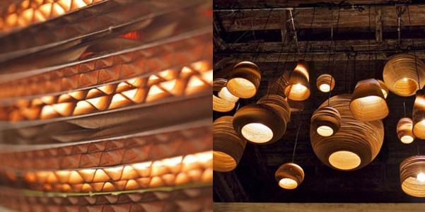 Scraplights, lampadari di cartone DesignBuzz.it