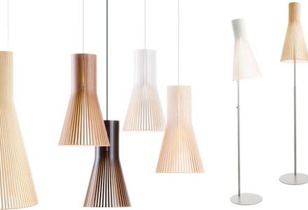 Lampade legno Secto Design Oy