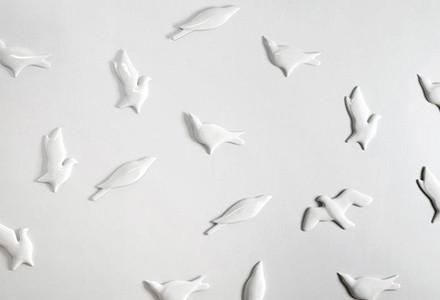 Carta parati 3D porcellana