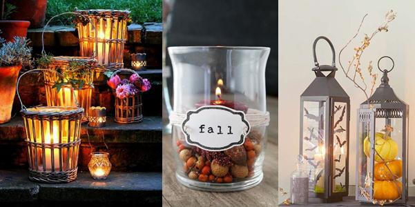 Idee decor lanterne per l autunno - Decorare lanterne ...