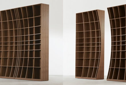 Concave bookcase