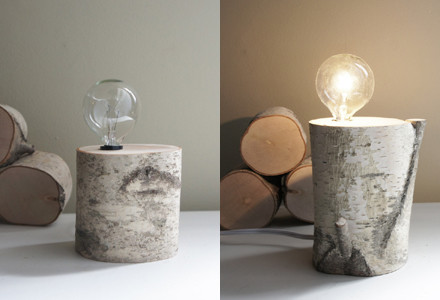 lampada legno fai da te