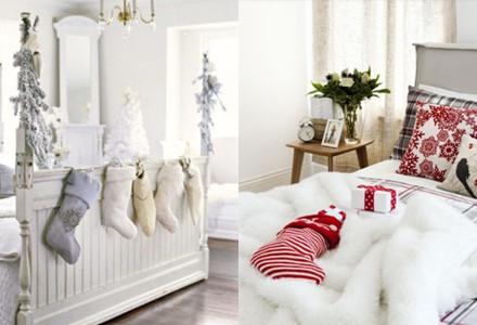 Idee decor Natale camera letto