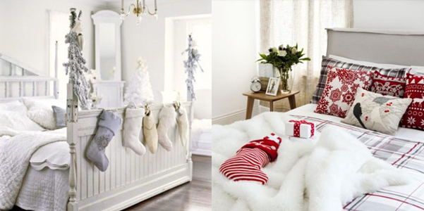 idee decor natale camera da letto