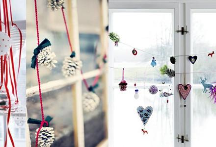 Idee decor Natale finestre