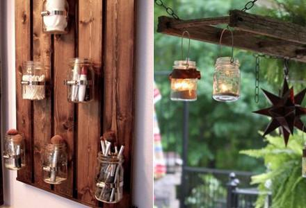 Idee decor riutilizzare barattoli