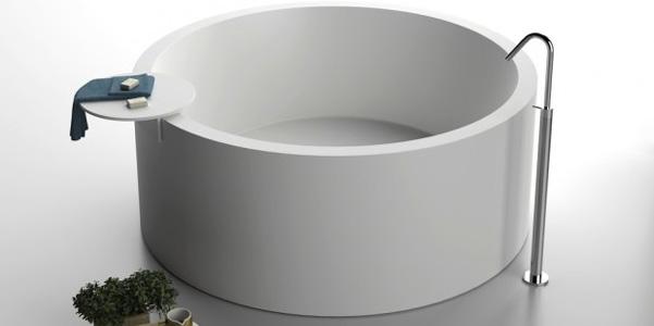Vasca da bagno circolare boiserie in ceramica per bagno - Vasca da bagno circolare ...