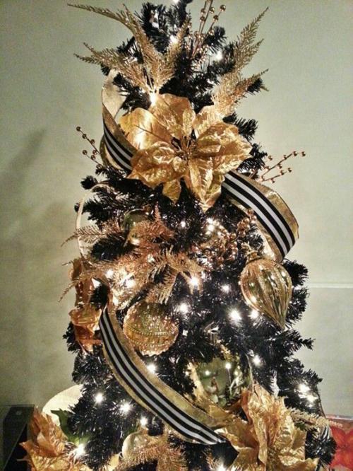 Idee decorazioni natalizie addobbi oro e nero - Decorazioni natalizie moderne ...