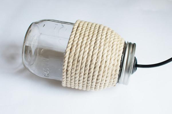 Tutorial lampada fai da te con barattolo di vetro e spago - Lampade da tavolo fai da te ...