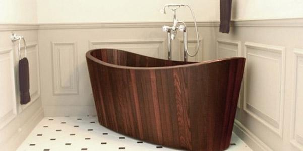 Vasche da bagno in legno artigianali di khis bath - Costo vasca da bagno ...
