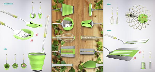 Utensili da cucina lily set come fiori in vaso for Set utensili da cucina