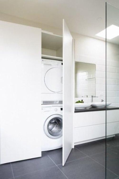 Come nascondere la lavatrice in casa for Stipetto bagno