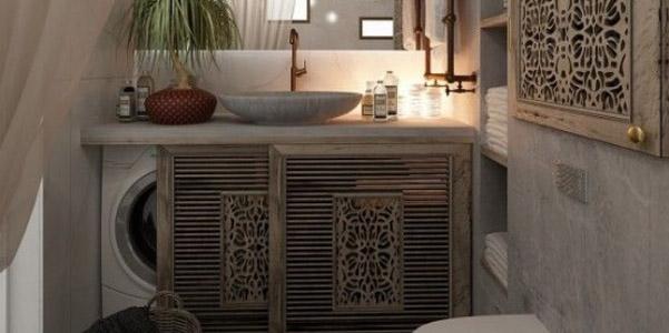 Come nascondere la lavatrice in casa - Asciugatrice in bagno ...