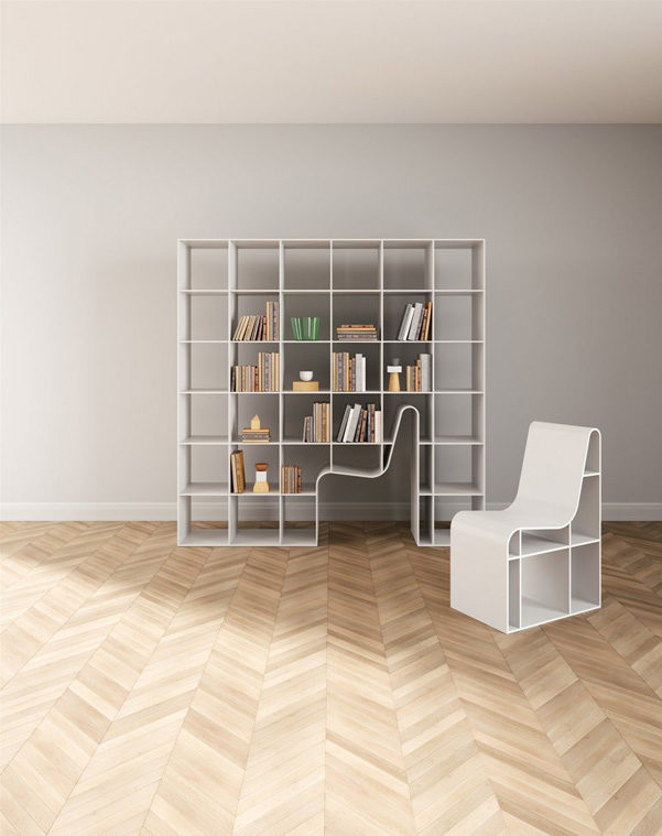Bookchair la libreria con poltrona incorporata www for Architetto giapponese