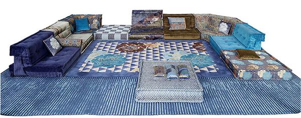 divano mah jong di roche bobois firmato da kenzo www. Black Bedroom Furniture Sets. Home Design Ideas