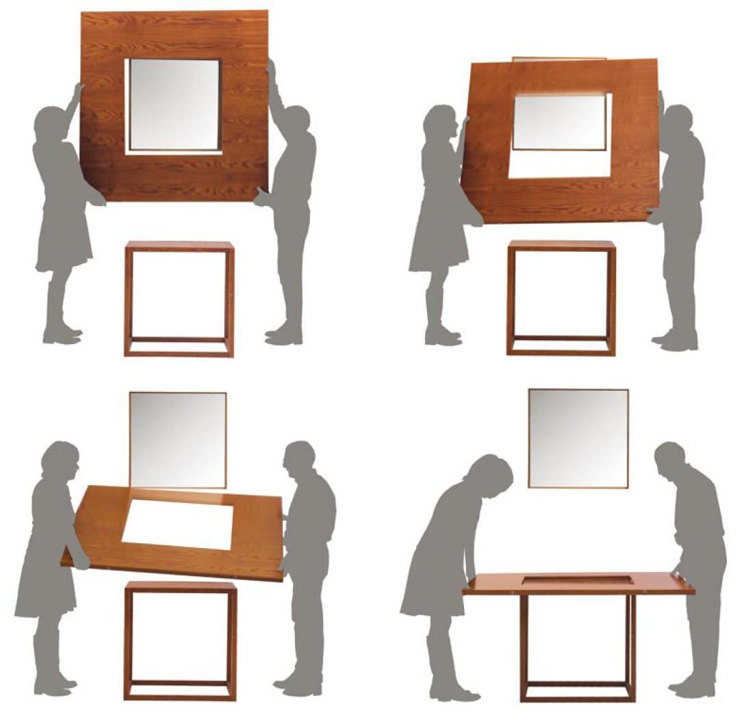 Tavoli Allungabili Per Piccoli Spazi.Besquare Un Grande Tavolo Per Piccoli Spazi Designbuzz It