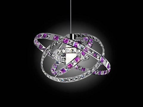 Le lampade gioiello queen di micron - Lampadari colorati design ...