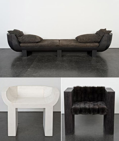 Rick Owens coach and chairs
