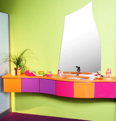 idee arredo bagno colorato-03 | designbuzz.it - Arredo Bagno Colorato