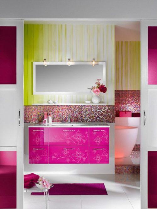 Idee arredo bagno colorato 32 - Arredo bagno colorato ...