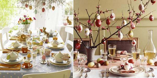 Idee per decorare la tavola di pasqua - Decori pasquali per la casa ...