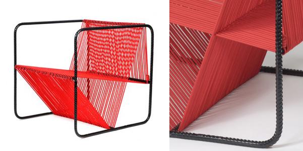 Acciaio e corda per la sedia m100 for Sedie pvc design