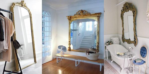 Idee per usare uno specchio barocco - Idee specchi per bagno ...