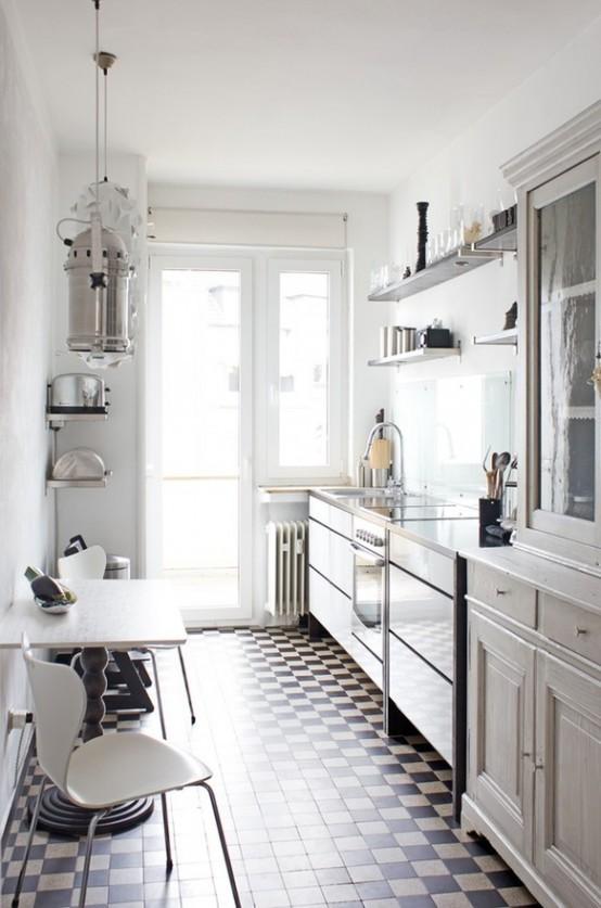 Idee per arredare una cucina piccola for Cocina larga y angosta