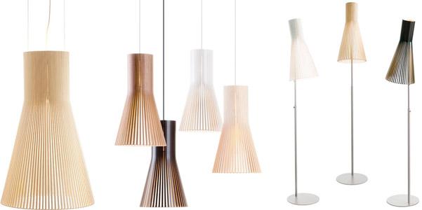 Lampade di legno secto design oy for Lampade design