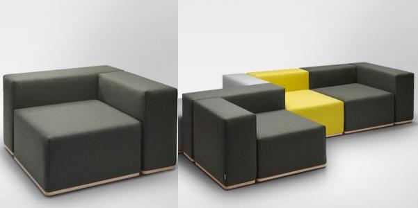 Divano cubes di merely for Mobilier modulable pour petit espace