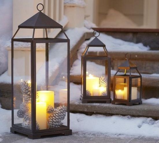 Idee decor lanterne natalizie for Materiali da costruzione della casa