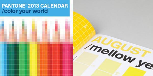 Calendario Pantone 2013