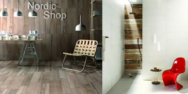 Piastrelle effetto legno abk - Bagno finto legno ...
