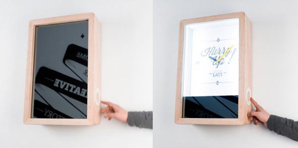 Blink orologio specchio