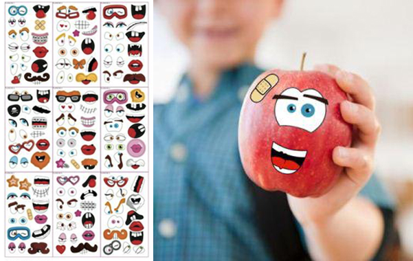 Tete de Pomme stickers commestibili
