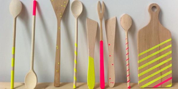 Personalizzare utensili di legno for Appendi utensili da cucina
