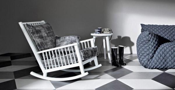 Sedia dondolo Gervasoni Gray