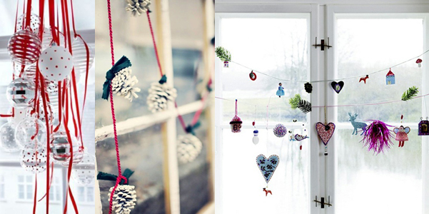 Idee decor Natale finestre