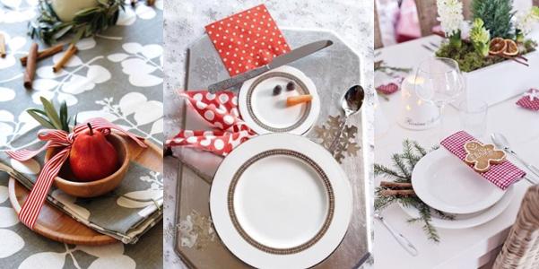 Idee per la tavola di natale - Addobbi natalizi per tavola da pranzo ...