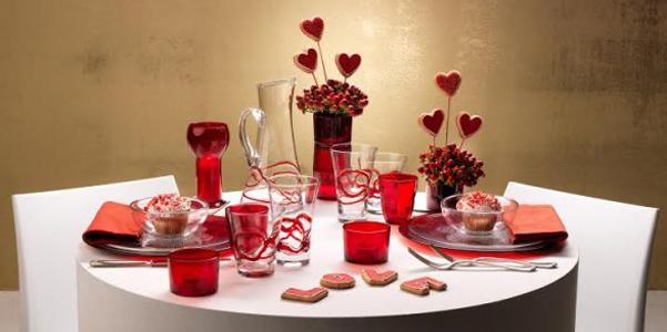 A tavola con bormioli per san valentino - Idee tavola san valentino ...